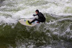 Surfing Eisbach - München (olijaeger) Tags: surfer surfing wasser water wave münchen munich ripcurl welle fluss river city eisbach sport sports wassersport wellenreiten outdoor perspective actionsports surfboard surfen watersports eisbachwelle