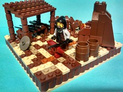 The Blacksmith (ACPin) Tags: castle toys lego vignette moc acpin brickwarrior