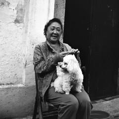 Nameless (Spontaneousnap) Tags: china street city portrait blackandwhite bw film asia shanghai candid candidstreetphotography spontaneousnap thelittledoglaughednoiretblancet