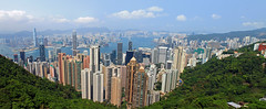 The Peak - Hong Kong (ETNevins) Tags: panorama hongkong cityscape peak views 2014