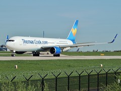 Thomas Cook Airlines Boeing 767-31KER/W G-TCCB departing Manchester, 15 April 2014 (Ross Kennedy) Tags: new england sky man southwest west tower english tarmac airplane manchester concrete fly high airport wings holidays europe european northwest britain thomas good euro aircraft altitude aviation air south jets flight cook eu fast cockpit aeroporto terminal aeroplane landing deck international level airline planes passenger boeing arrival popular departure propeller takeoff runway flights carrier freight mounds flightdeck airliner intl turboprop airfield aerodrome winglets fuselage jetliner ringway planespotting 767300 tcx egcc turbojet tailplane turbofan iata icao
