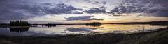 Sunset Wide (WherezJeff) Tags: sunset lake canada nationalpark pano alberta elkisland fortsaskatchewan yeg astotin