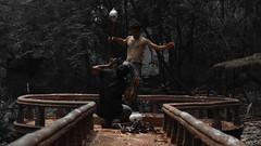 The Ritual at the Hallow (Rahul Ravi) Tags: people lake black tree water dark death skull dock woods jetty inner ritual sacrifice sadu hallow