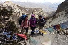 Ziemlich windig wars...! (Alfesto) Tags: nepal trekking himalaya samar chele syanboche uppermustang knigreichmustang