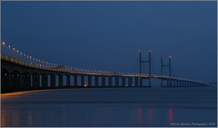 The Blue Hour (chrisbarnard20) Tags: water southwales bristol dusk severnbridge suspensionbridgesevernriver
