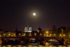Moon over Notre Dame Paris