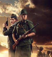 It's a War.... (Rey de Elreyfoto) Tags: world 2 composite contrast soldier war nazi dramatic german pistol airsoft