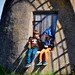 Barndom / Childhood (two boys and an old windmill).