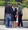 Colin Farrell and Rachel Weisz filming scenes for 'The Lobster' at Joel's Restaurant on the Naas Road: WENN.com