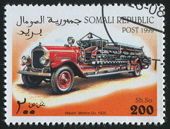 Somali 0007 m (roook76) Tags: old red rescue alarm car truck vintage fire big ancient automobile message lift mail engine retro stamp firetruck health card envelope letter vehicle somali aged ladder emergency firefighter address postage assistance brigade postmark philately response