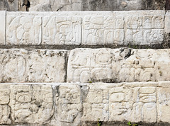 Mayan Glyphs in Palenque's Palace Courtyard (Oliver J Davis Photography (ollygringo)) Tags: travel sculpture heritage history archaeology stone architecture buildings mexico mesoamerica temple construction ancienthistory ancient nikon ruins pyramid maya stonework columns masonry unescoworldheritagesite worldheritagesite mayan palenque civilization pillars archeology chiapas inscriptions civilisation americas mayas precolombian centralamerica worldheritage basrelief d90 steppyramid