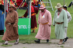 Men of some stature (10b travelling / Carsten ten Brink) Tags: 2012 asia carstentenbrink iptcbasic naadam wrestling festival sports national ulaanbaatar traditional clothing men walking mongolia mongolei peopleset