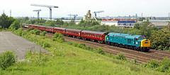 Class 40, 345 at Stourton (delticfan) Tags: whistler railtour 345 class57 class40 d345 57315 1z28