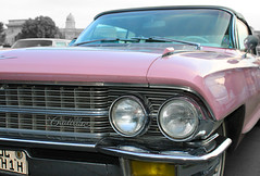 Pink Cadillac (Fins from Budapest) Tags: old pink classic beauty up car canon hungary close budapest cadillac oldtimer