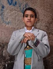 Boy in Sana'a, Yemen (Rod Waddington) Tags: boy portrait traditional east yemen sanaa middle jambiya