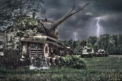 World of Tanks (MarcoMediaDesign) Tags: world sky dutch rain photoshop war tank krieg burn bolt lightning blitz hdr regen tanks panzer marcomediadesign