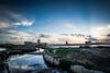 Sunset in the Salinas (Alessandro Vecchi) Tags: sunset sea italy water colors colorful europa europe italia tramonto mare colore sale salt sicily acqua colori saline sicilia salina trapani windmil mulini saltevaporationpond