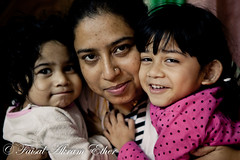 A Mother and Her Two Daughters (Faisal Akram Ether) Tags: pink red two smile mother daughters her chittagong a