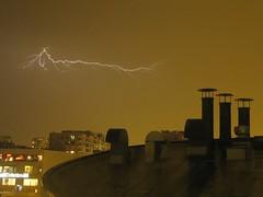 Lightning ((Jessica)) Tags: chicago storm weather night buildings thunderstorm lightning thunder chdk