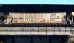 AEST (BLACK VOMIT) Tags: 2 car train graffiti ol south dirty mc dos crew coal d30 mayhem freight cru aest aest2 coalie