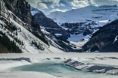 Lake Louise (Josiane .) Tags: lake snow canada mountains ice landscape spring nikon banff nationalparks albertarockymountain