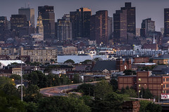 POTD 2014-06-15 - Boston Skyline from Malone Park - HDR