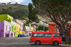 Bo-Kaap, Sunday Afternoon (rowjimmy76) Tags: auto city urban bus southafrica colorful capetown neighborhood hills vegetation dslr westerncape bokaap malayquarter canonef24105mmf4lisusm 5dm2 5dmii