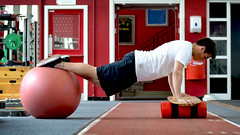 Swissball static pressup balance