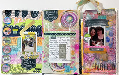 The Documented Life Project Week 24 - Pages (Roben-Marie) Tags: art calendar painted layered doodled robenmarie moleskineplanner sttiched thedocumentedlifeproject arttothe5th