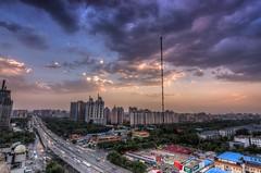 DSC_1307_8_9_tonemapped (龙颜大悦) Tags: china blue cloud beijing bluesky 北京 中国 hdr photomatix nikond90 tokinaaf1228mmf4 健德门