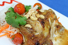 "Thai BBQ Chicken (Laura Gelezunas) Tags: chicken beer breakfast dinner lunch ginger photographer photos peanuts drinks snacks puertovallarta cocktails cuisine"" ""thai puertovallartarestaurants ""bbq lauragelezunas daiquiridicksrestaurant"