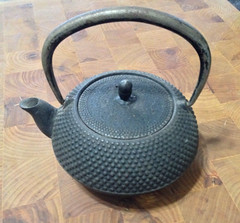 Just a little tea pot. (blackthorne56) Tags: japanese iron tea pot cast nailhead hobnail