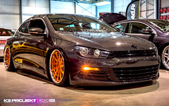 K3 Projekt Wheels | VW Scirocco featuring our IND-R11 (K3 Projekt) Tags: show cars vw europe low wheels tires rims projekt k3 2014 bagged worthersee