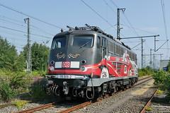 P1680803 (Lumixfan68) Tags: eisenbahn db 80 bahn gudrun 115 deutsche jahre e10 autozug loks baureihe elektroloks werbeloks geiblinger