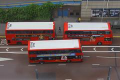 Triple Double Deckers, Wellesley Road, Croydon, June 16th 2014 (Southsea_Matt) Tags: arriva goahead dennistrident t118 enviro400 volvob7tl wellesleyroadcroydon optareolympus doe37 lj55btu vla145 lx58cyg lj10hvo