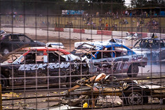 Aftermath (chelle green) Tags: crash racing bangers sonyslta77