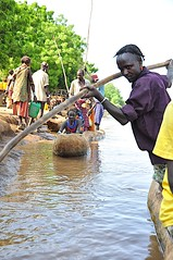 Crossing Omo River at Omerate, Ethiopia (Rod Waddington) Tags: africa river log traditional tribal canoe valley ethiopia tribe ferryman ethiopian omo dassanech