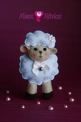 Ovelhinha vaidosa (Mimos & Feltrices) Tags: prince felt feltro menina decorao presente pequeno principe principezinho enfeite littel ovelha raposa
