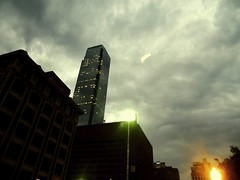 Downtown Dallas (gabii_benally) Tags: clouds buildings lights dallas cool downtown cloudy streetlights gray eerie