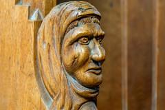 Merseburg, Dom (Heike Wiechmann) Tags: brown detail face gesicht dom holz merseburg chorgesthl sonyalpha58 heikewiechmann