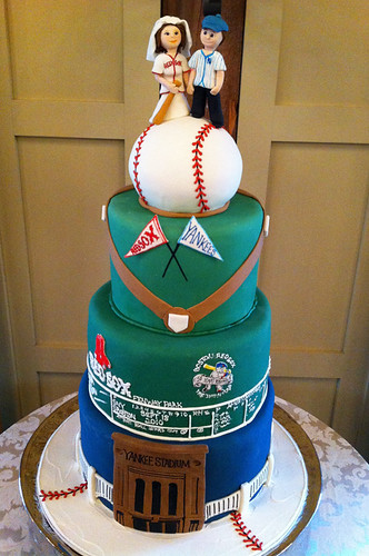Red Sox vs Yankees Wedding Cake