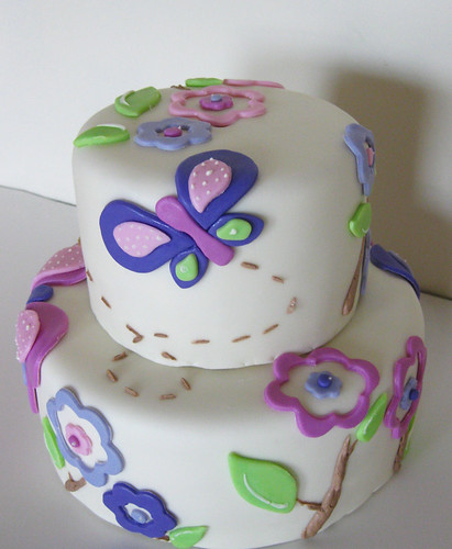 Butterfly Wallpaper Cake