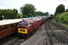 D1062 Western Courier 13th July 2014 SVR Bridgnorth (Ian Sharman 1963) Tags: heritage station train diesel engine july railway loco class severn valley western locomotive courier 13th 52 svr 2014 kidderminster bridgnorth d1062