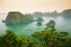 Halong Bay (lunarlynx) Tags: ocean travel blue sea summer green tourism nature water marina canon observation landscape asian boats bay boat amazing aqua asia long vietnamese view turquoise postcard famous hill sightseeing landmark unesco hills vietnam professional explore viet stunning limestone sail destination canon5d areal ha traveling exploration dao viewpoint seashore unescoworldheritage halong southchinasea touristic discover observationdeck waterscape carst famousplaces southwestasia famoussights titop