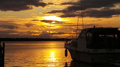 Resting Ashore (Simon-Moore-Pix) Tags: sunset reflection water boat shore boating antrim loughneagh ramsisland