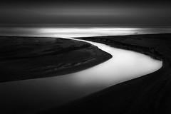 Gazos Creek (StefanB) Tags: ocean california sea bw seascape monochrome creek coast pacific geotag hwy1 2014 gazos em5 1235mm