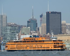 Staten Island Ferry on the Hudson River, New York City (jag9889) Tags: nyc newyorkcity usa ny newyork ferry river boat newjersey ship unitedstates manhattan unitedstatesofamerica vessel midtown kayaking transportation hudsonriver paddling statenislandferry waterway weehawken 2014 northriver jag9889 20140721