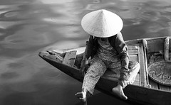 Lady of Hoi An (Wilson :)) Tags: water hat boat peace rice an vietnam hoi