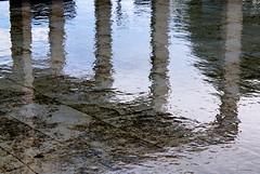 Allà on les aigües s'endinsen dins la ciutat (Aviones Plateados) Tags: barcelona city water canon reflections eos agua ciudad ciutat cosmocaixa dipped 2014 550d t2i lamanoamiga kissx4