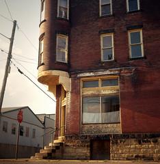(deatonstreet) Tags: 120 film architecture corner historic westvirginia storefront wheeling automat flexaret